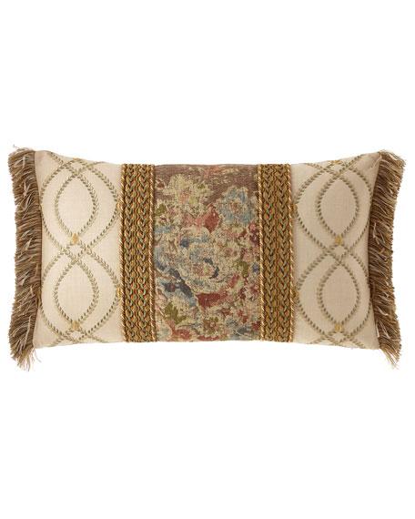 Dian Austin Couture Home Viburnum Pieced Oblong Pillow with Braid