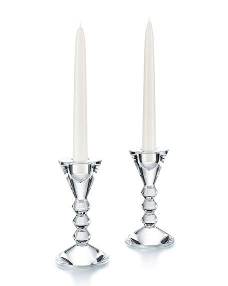 Baccarat Vega Candlestick Holders, Set of 2