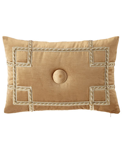 Minako Velvet Oblong Pillow with Button Center