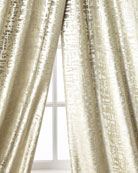 Lili Alessandra Yovanna Silver Shimmer Curtain Panels, Set