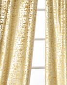 Lili Alessandra Yovanna Gold Shimmer Curtain Panels, Set