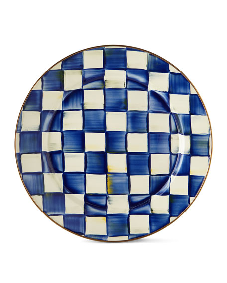 MacKenzie-Childs Royal Check Charger Plate