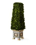 MacKenzie-Childs Preserved Boxwood Obelisk Topiary - Medium