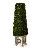 MacKenzie-Childs Preserved Boxwood Obelisk Topiary - Large