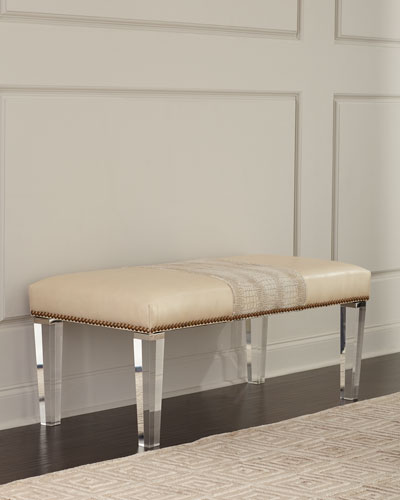Serendipity Leather Colorblock Bench