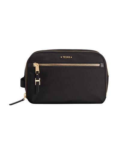 Erie Double-Zip Cosmetic Bag