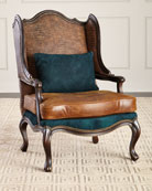 Massoud Aries Leather Wing Chair