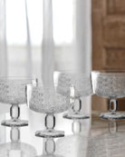 Bistro Key Clear Pedestal Bowls, Set of 4