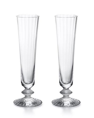 Mille Nuits Champagne Flutes, Set of 2