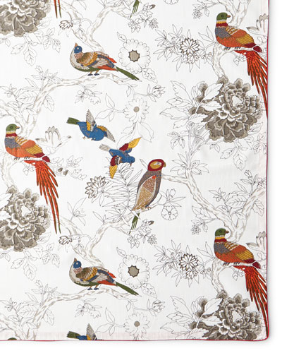 Bird & Floral Tablecloth, 72