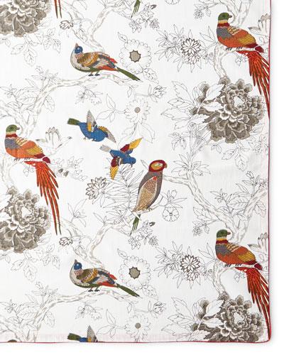 Bird & Floral Tablecloth, 60
