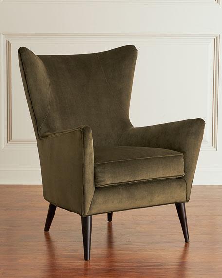 Sam Moore Bryce Velvet Wing Chair