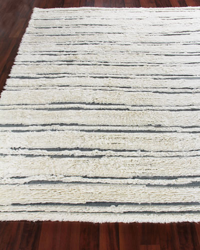 Romon Hand-Knotted Rug, 6' x 9'