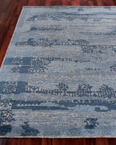 Baker Hand-Knotted Wool Area Rug, 9' x 12'