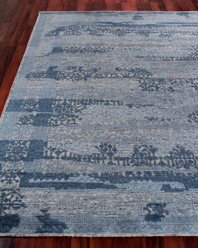 Blue New Zealand Wool Rug Neiman Marcus