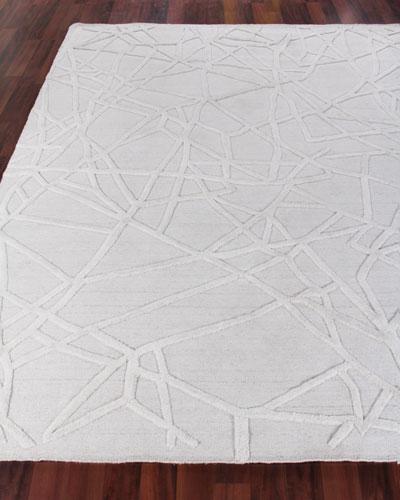 Georgia Hand-Woven Wool Area Rug, 6' x 9'