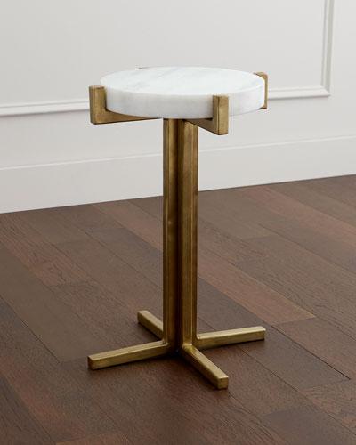 Micah Marble Top Side Table