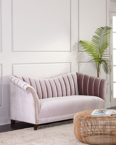Moira Channel-Tufted Sofa 87