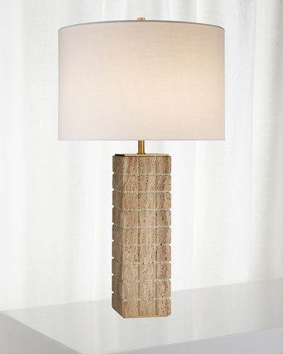 Pietra Large Hand-Carved Table Lamp