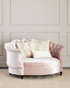 Haute House Isabella Blush Cuddle Chair