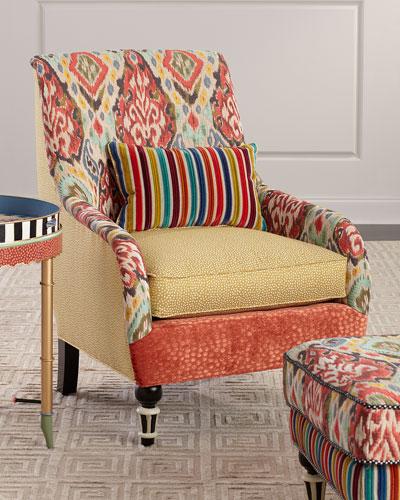 Remarkable Mackenzie Childs Designer Polyester Chair Neiman Marcus Ibusinesslaw Wood Chair Design Ideas Ibusinesslaworg