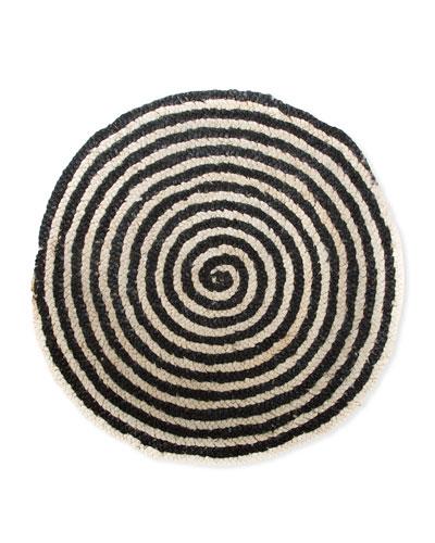 Spiral Swirl Jute Rug, 3'Dia.