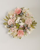 MacKenzie-Childs Cottontail Wreath