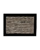 MacKenzie-Childs Black Braided Stripe Jute Rug, 2' x