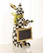 MacKenzie-Childs Courtly Check Menu Rabbit