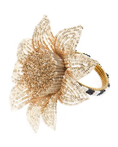 Blossom Napkin Ring, Gold