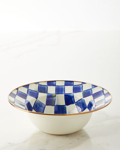Royal Check Serving Bowl