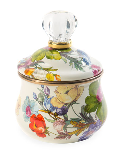 Flower Market Lidded Sugar Bowl, White