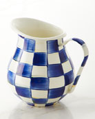 MacKenzie-Childs Royal Check Pitcher