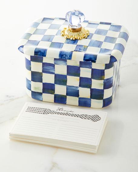 MacKenzie-Childs Royal Check Recipe Box