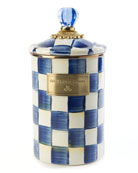 MacKenzie-Childs Royal Check Large Canister
