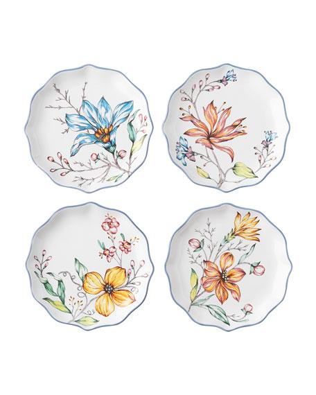 Juliska Floretta Tidbit Plates, Set of 4