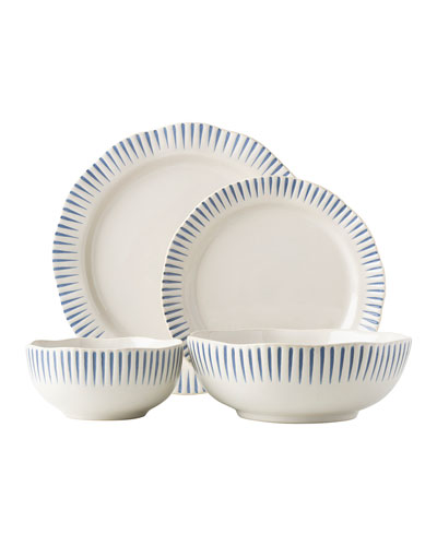 Sitio Stripe Indigo 4-Piece Place Setting