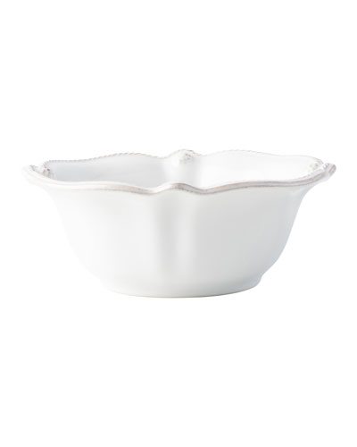 Berry and Thread Whitewash Cereal/Ice Cream Bowl