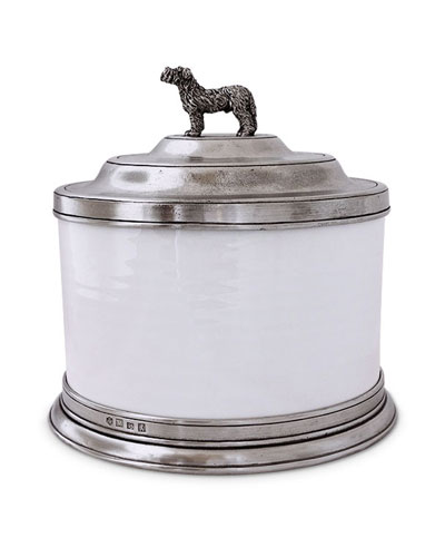 Convivio Cookie Jar with Dog Finial
