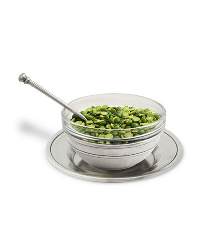 Condiment Uno Bowl with Spoon and Saucer