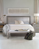 Century Furniture Kendall Velvet Upholstered Queen Bed