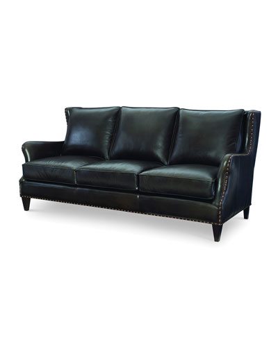 Avery Leather Sofa, 85