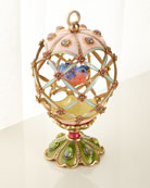 Jay Strongwater Bird Cage Egg Objet