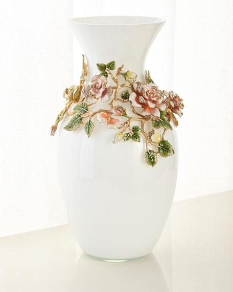 Jay Strongwater Rose Grand Vase