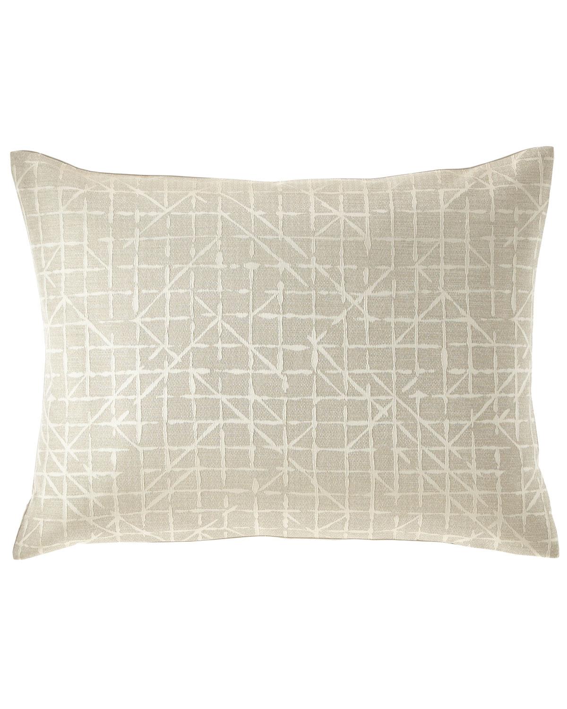 Fino Lino Linen & Lace Pillows CHEVRILLE KING SHAM
