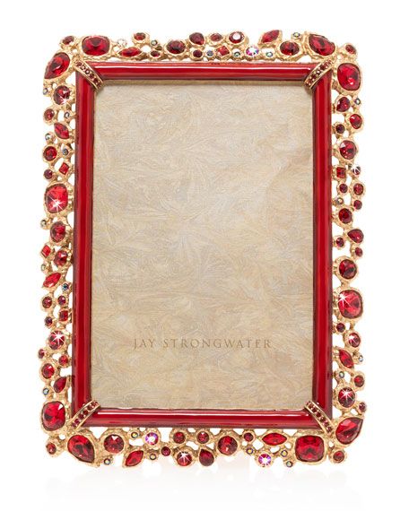 """Jay Strongwater Bejeweled Frame, 4"""" x 6"""""""