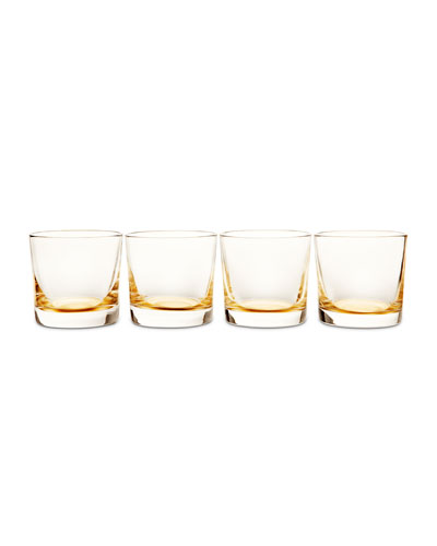 Gold Glasses, Set of 4