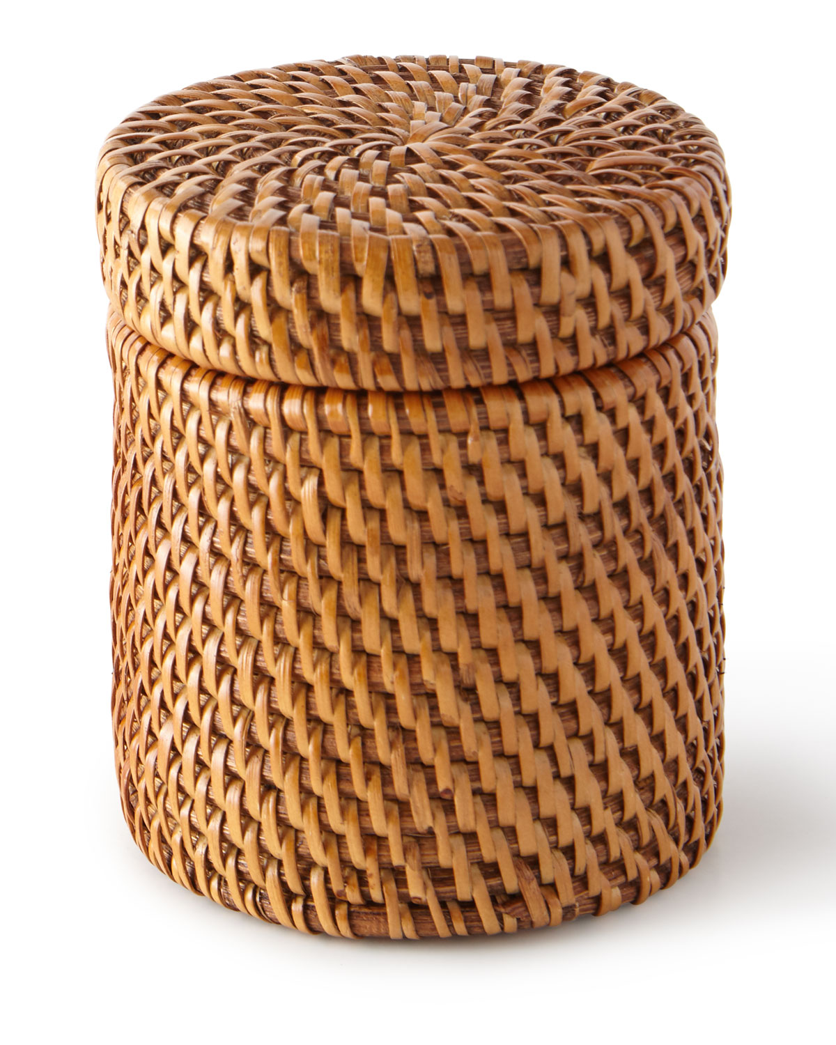 Pigeon & Poodle Clothing DALTON ROUND RATTAN CANISTER