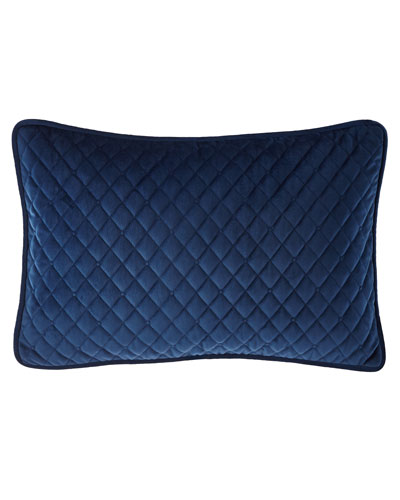Imperial Toile Quilted Velvet Pillow