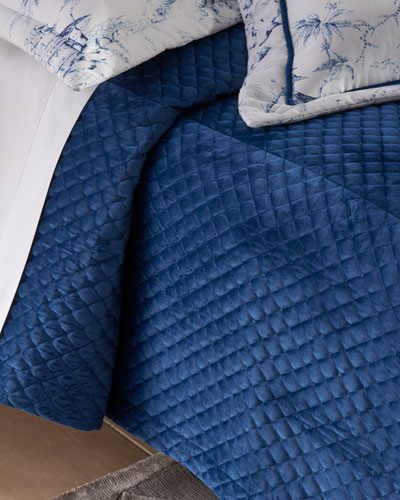 Imperial Quilted Velvet 3-Piece King Coverlet Set